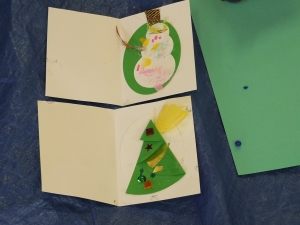 Christmas card making at the Upper Hutt Library