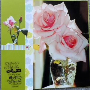 Reflections of Roses - a large photo layout.