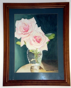 Finished painting of my roses.
