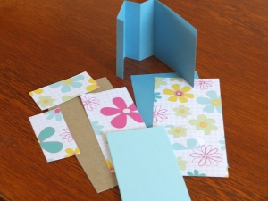 Materials for making easel paper pad holders for gifts