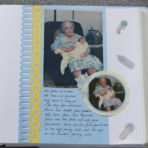 Rugged Baby Boy scrapbook page