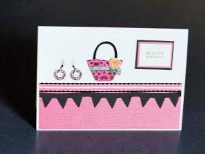 Cool chick handcrafted card