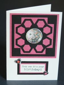 Disco ball handcrafted card