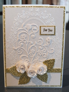 Cream and gold card