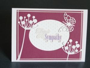 Handcrafted sympathy card