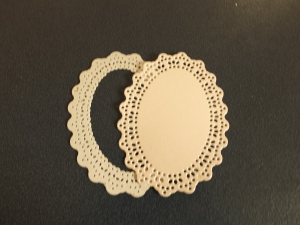 Die cut oval frame