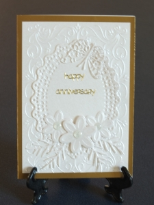 Elegant gold and cream Anniversary Card