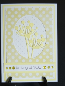 Love this combination of yellow, white and dots