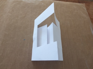 Tutorial for a 6″ x 4 1/4″ Double Side Step Card.