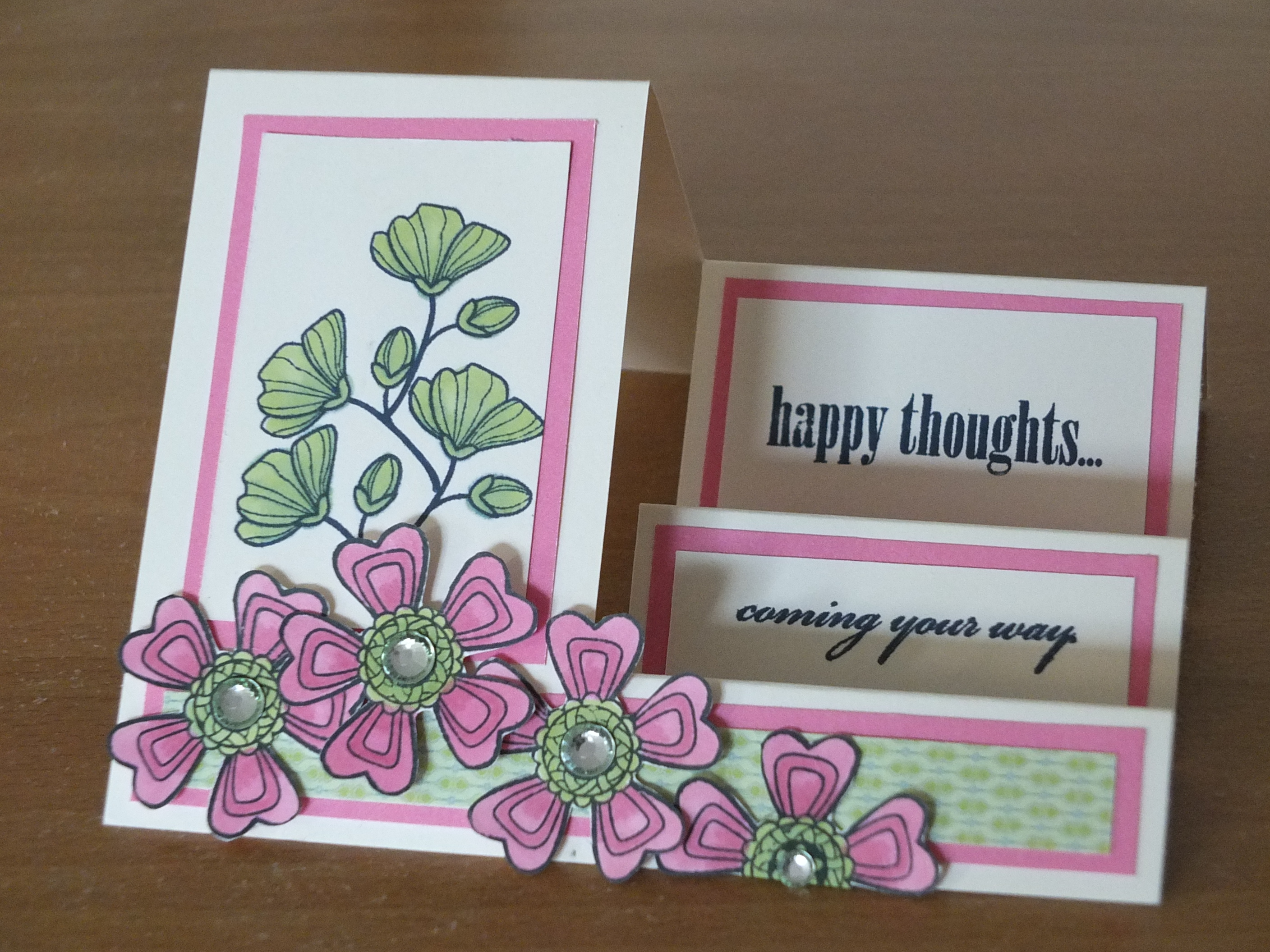 This card is very easy to make with only one cut and several scoring ...