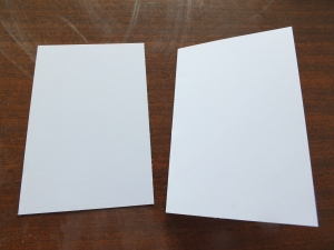 Two 6 x 4 card bases