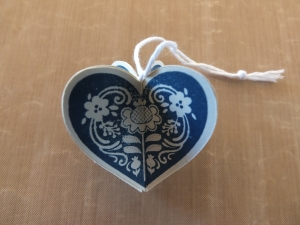Heart Christmas ornaments