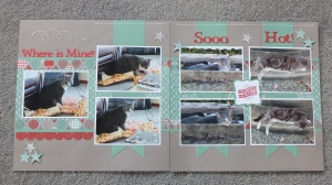 CTMH Sparkle and Shine double page layout