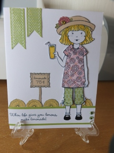 CTMH Paper Doll stamp set - Paper piercing
