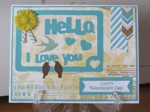 CTMH Skylark Valentines Day Card
