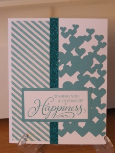 CTMH Wedding card using Skylark and Lagoon