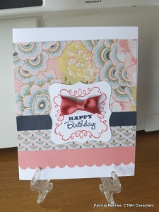 CTMH Ariana card using Artbooking cartridge and the Sweet and Lovely Cricut bundle stamp set.