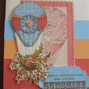 CTMH Balloon Ride card paper pieced and coloured with new Touch markers