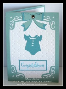 CTMH Artfully Sent Baby Blue Card