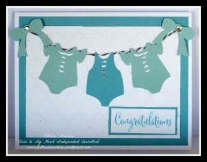 CTMH Baby Blue Card No 2