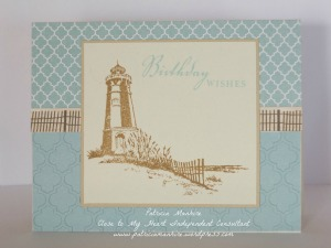 CTMH Seaside Lighthouse card