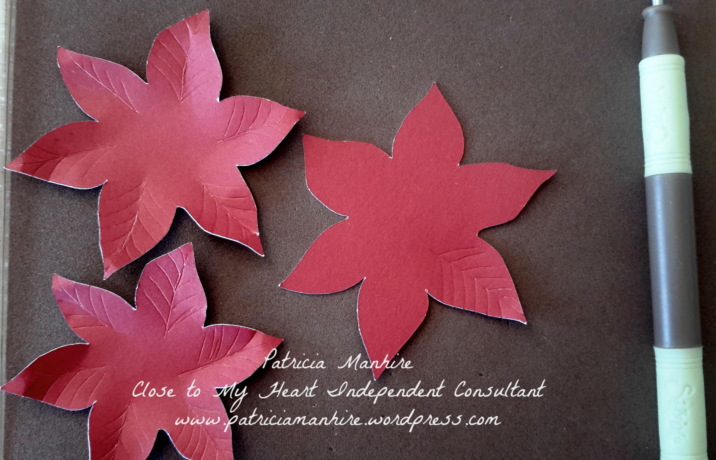 Poinsettia Flower Tutorial Patricias Creative Corner