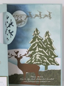 CTMH Artfully Sent Christmas Card scene