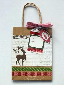 Yuletide Carol Kraft bag with reindeer