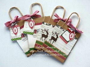 Yuletide Carol Kraft Bags