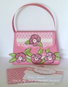 CTMH Brushed flower purse.