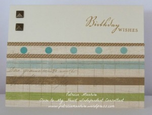CTMH Quick and easy Seaside masculine card