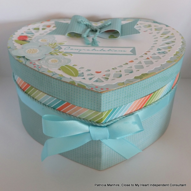 Box decorated with CTMH Blossom papers.