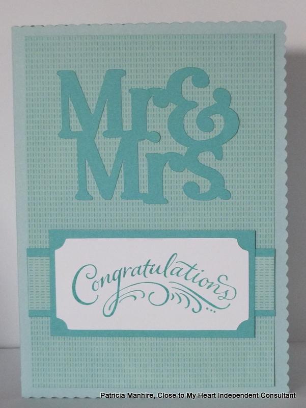 #CTMH Artfully Sent Wedding card