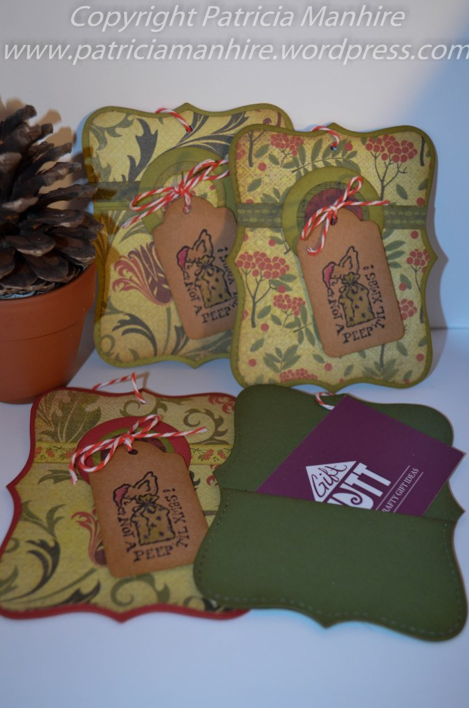 Top Note Gift Card Holders
