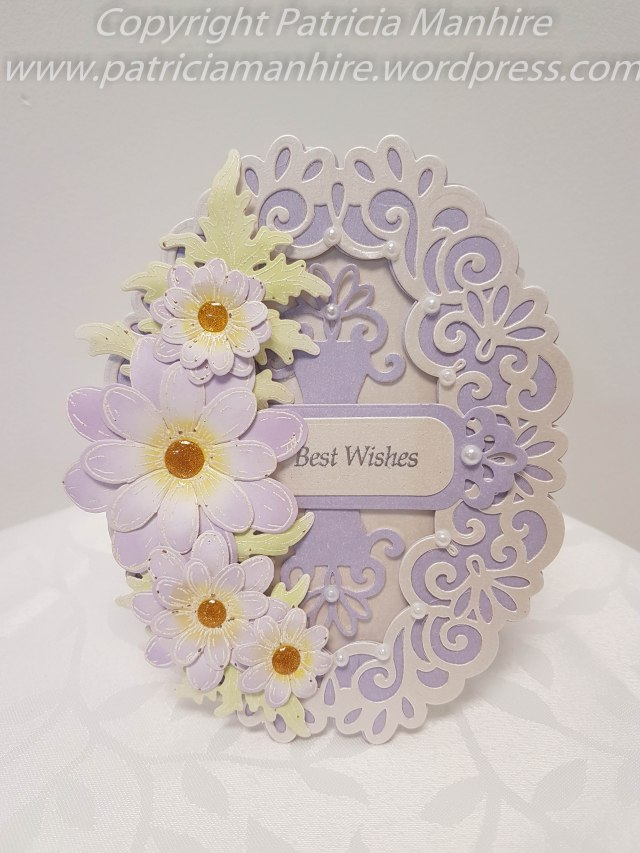 Heartfelt Creations Delightful Daisies, Spellbinders Heirloom Oval